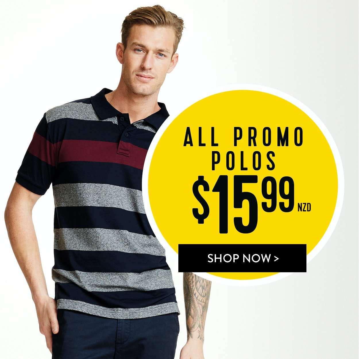 Shop All Mens Promo Polos for $12.99