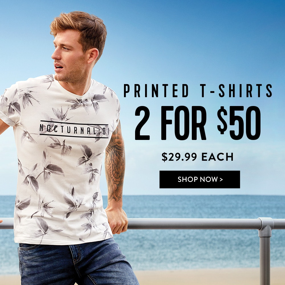 Get 2 for $50: Printed T-shirts