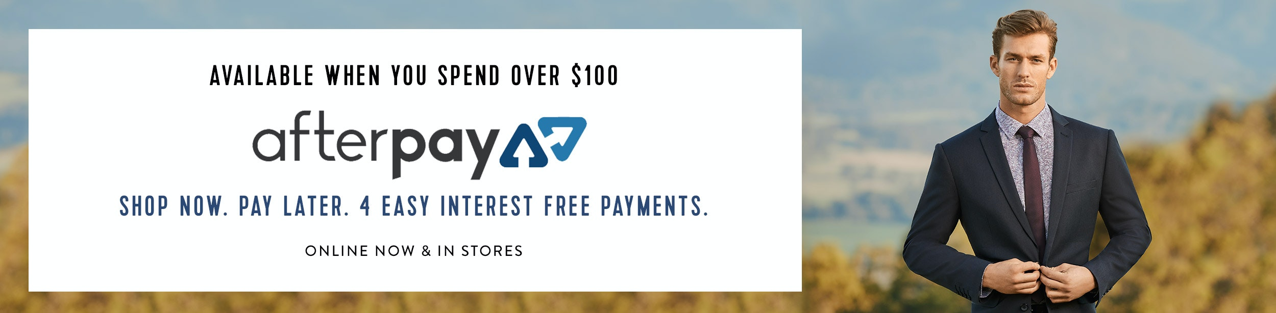 Shop now and pay later using Afterpay