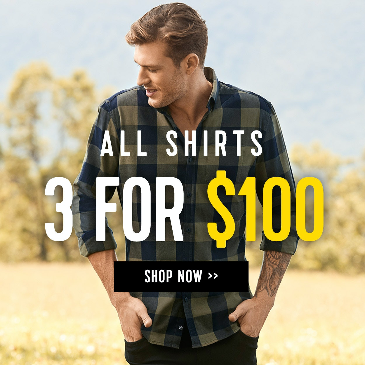 Shirts 3 for $100