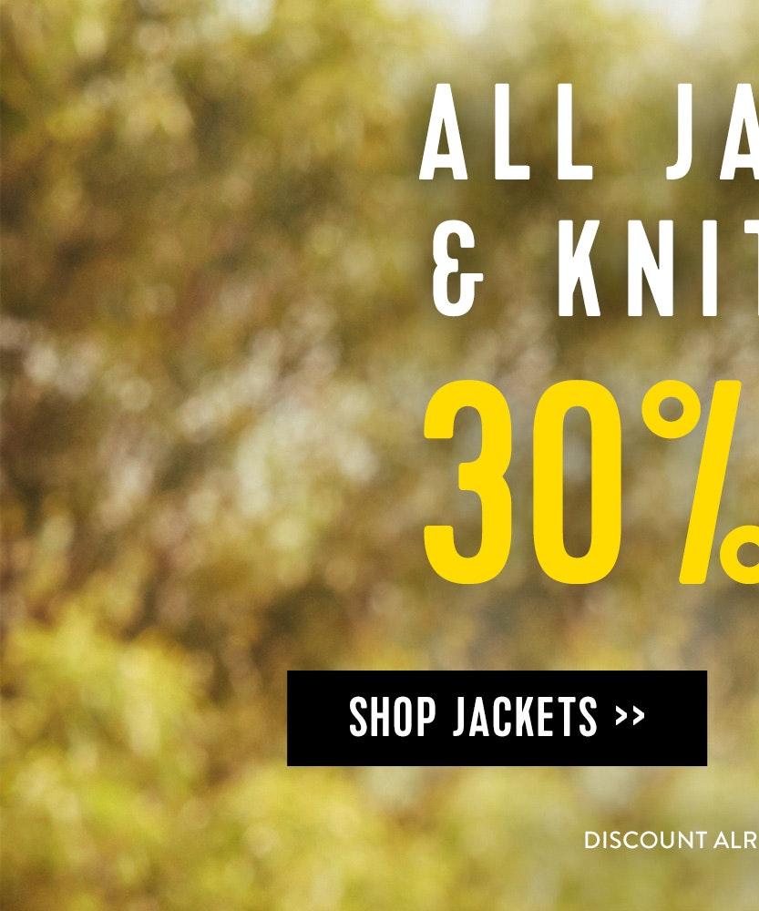 Shop 30% Off Jackets & Knitwear