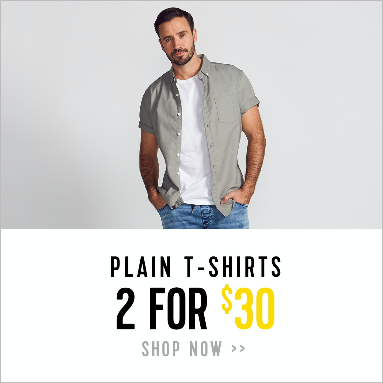 Plain T-shirts - 2 for $30