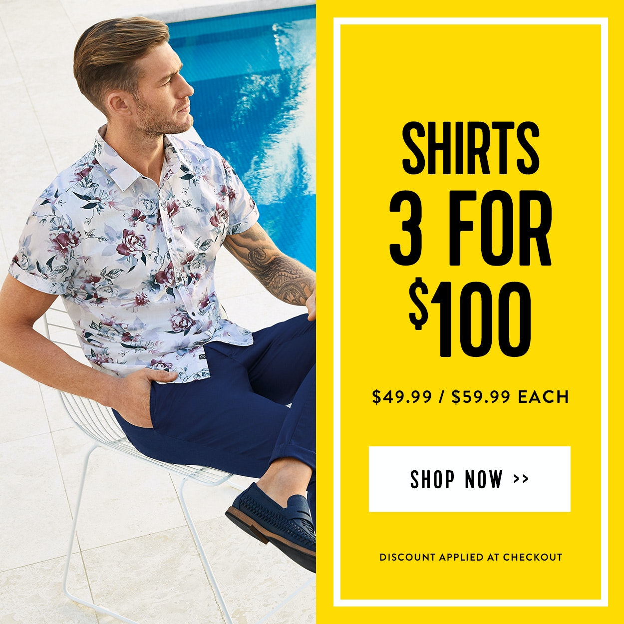 Shop Connor Mens Shirts - 3 for $100