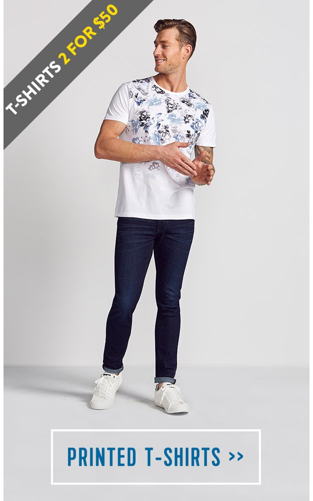 Shop our Mens Printed T-shirts
