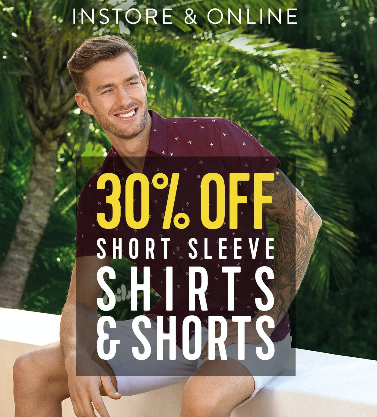 Shop Menswear Sale Shirts & Shorts at Connor