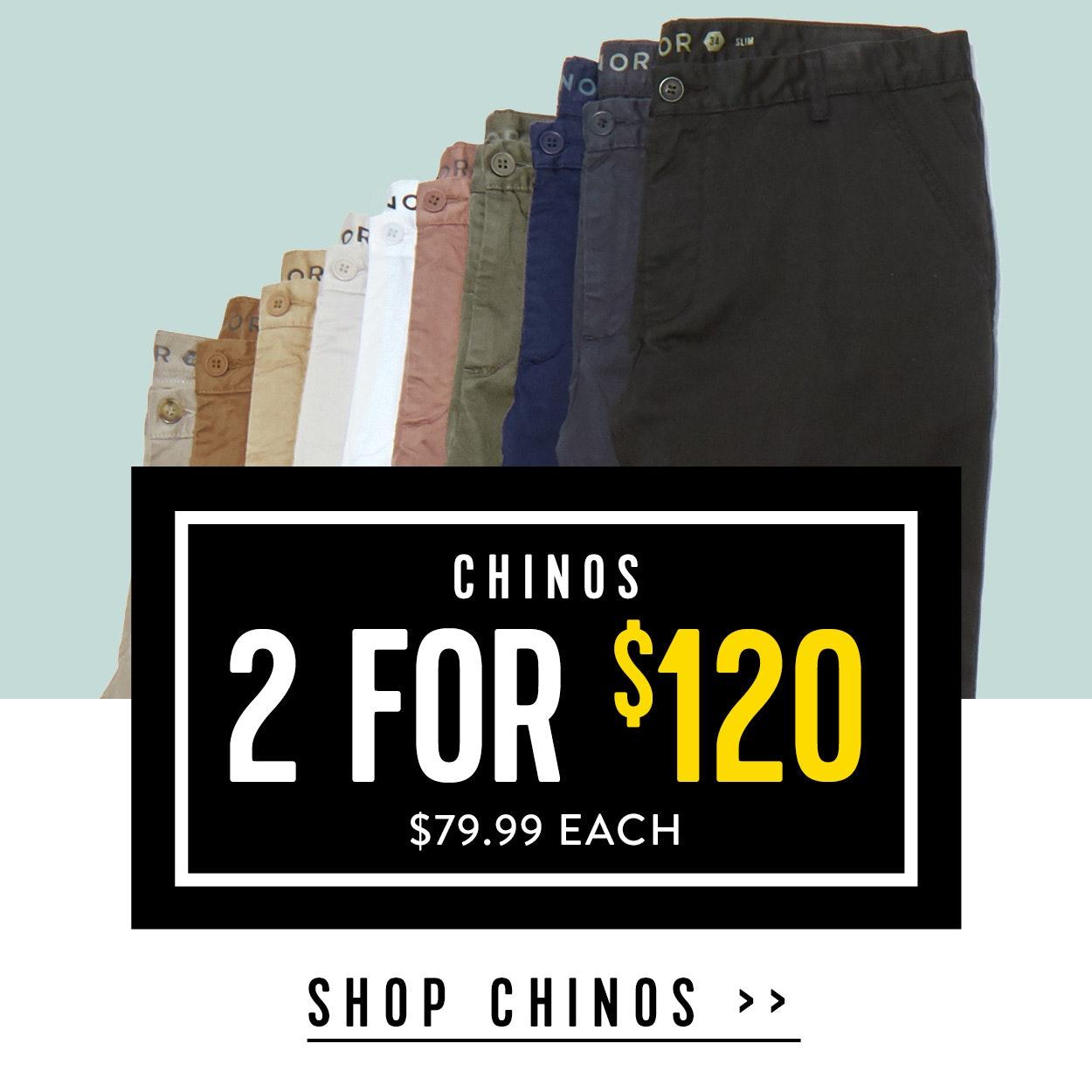 Shop Menswear Sale Chinos at Connor