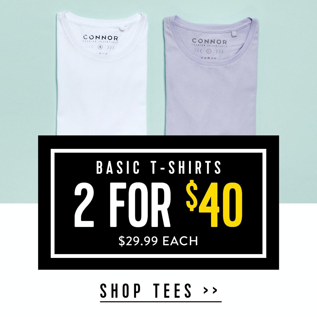 Shop Menswear Sale T-shirts at Connor