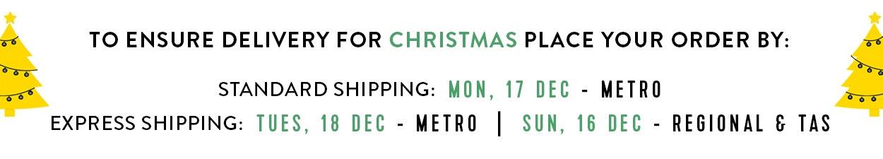 Connor Xmas Delivery Dates