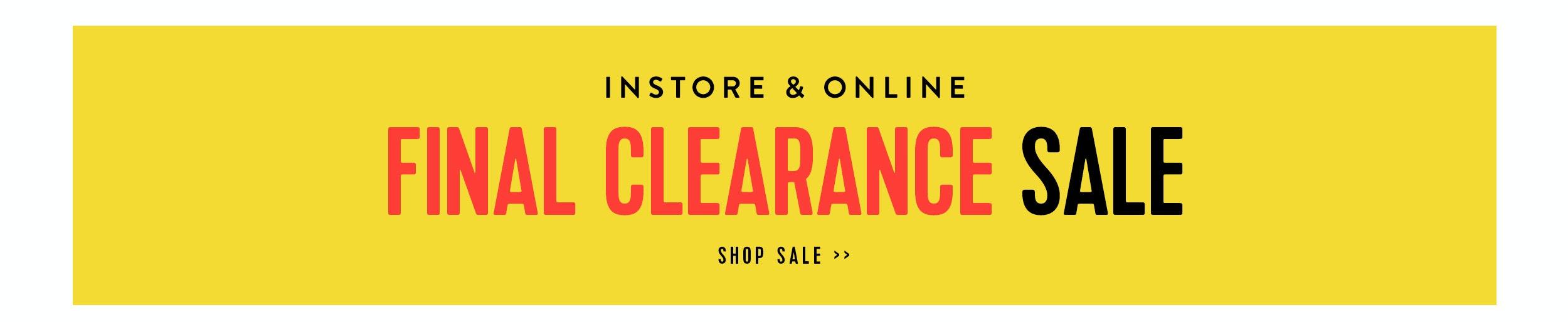 Shop Final Clearance