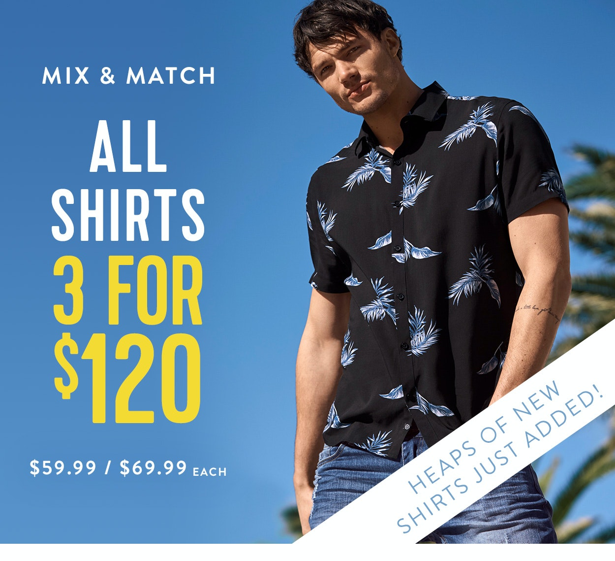 Shop Shirts 3 for $120