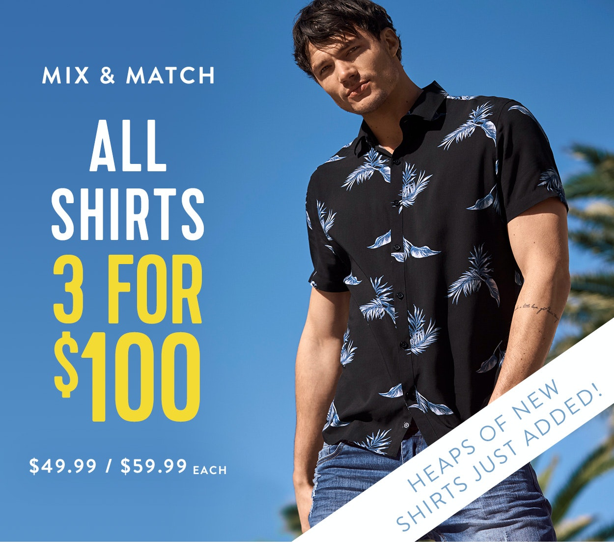 Shop Shirts 3 for $100