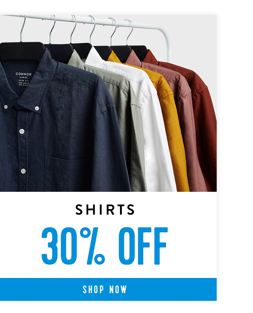 Shop Shirts 30% off