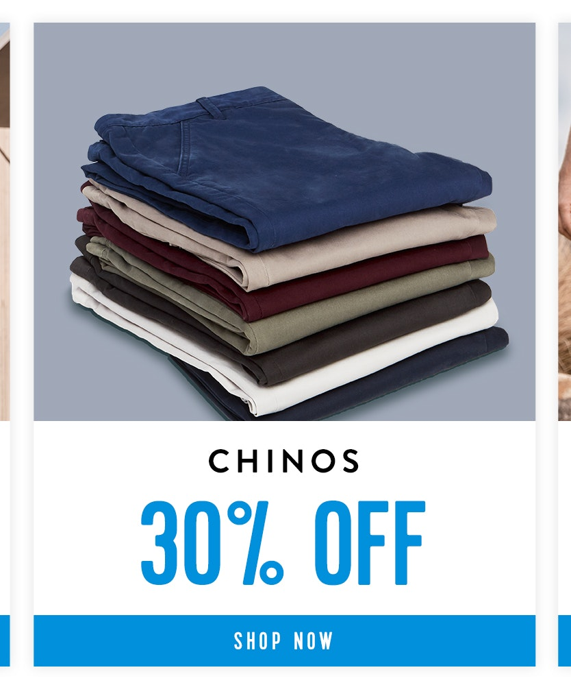 Shop Chinos 30% off