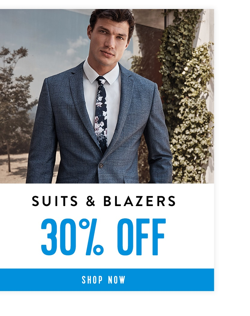 Shop Suits & Blazers 30% off