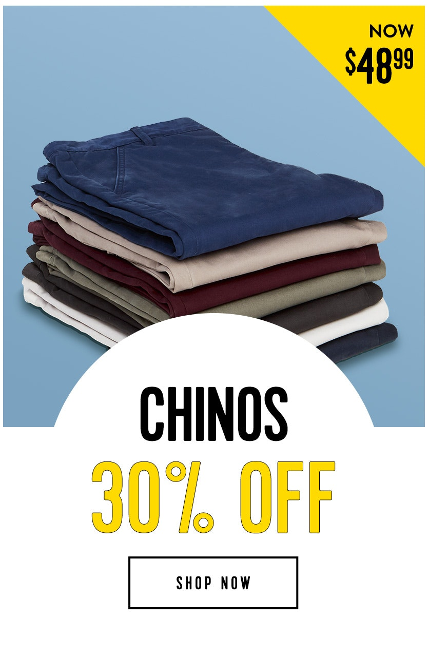 Shop Chinos 30% off