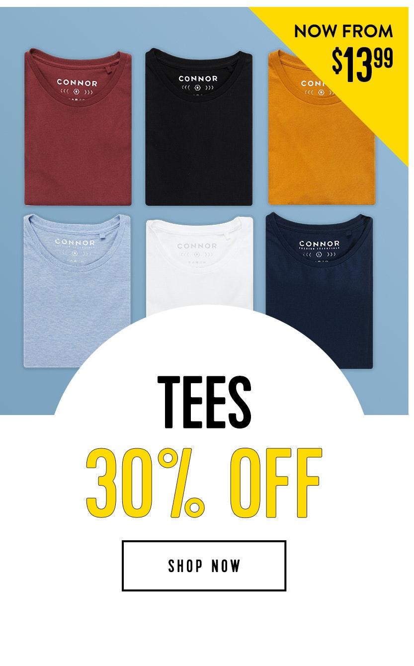 Shop Tees 30% off