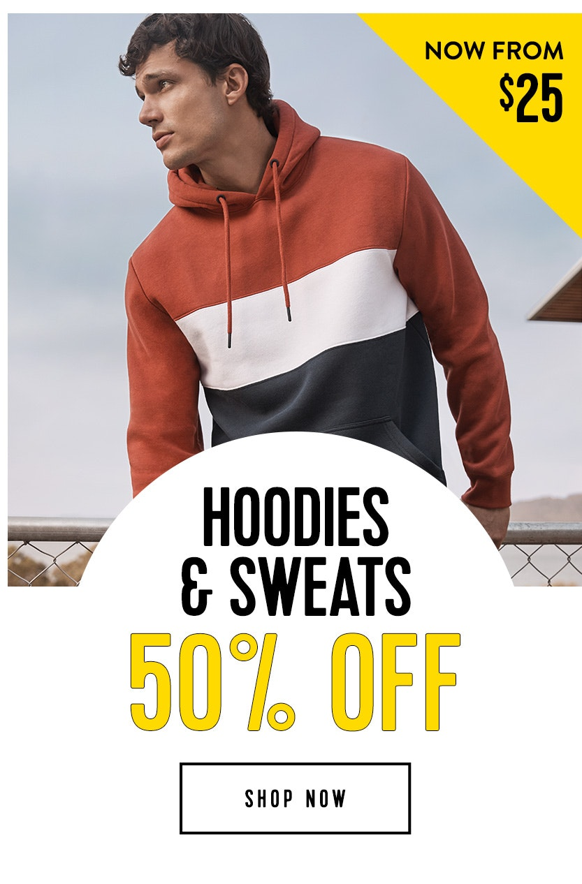 Shop Hoodies 50% Off
