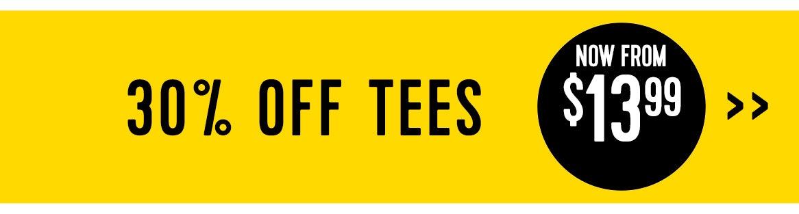 Shop 30% off Tees