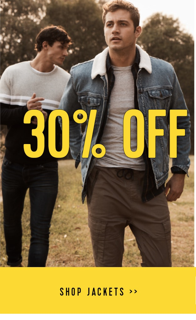Shop Jackets 30% off
