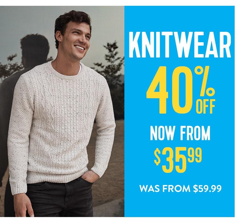 40% off Knitwear
