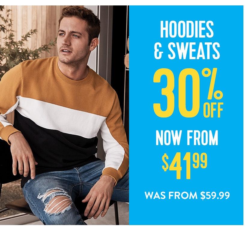 30% off Hoodies & Sweats