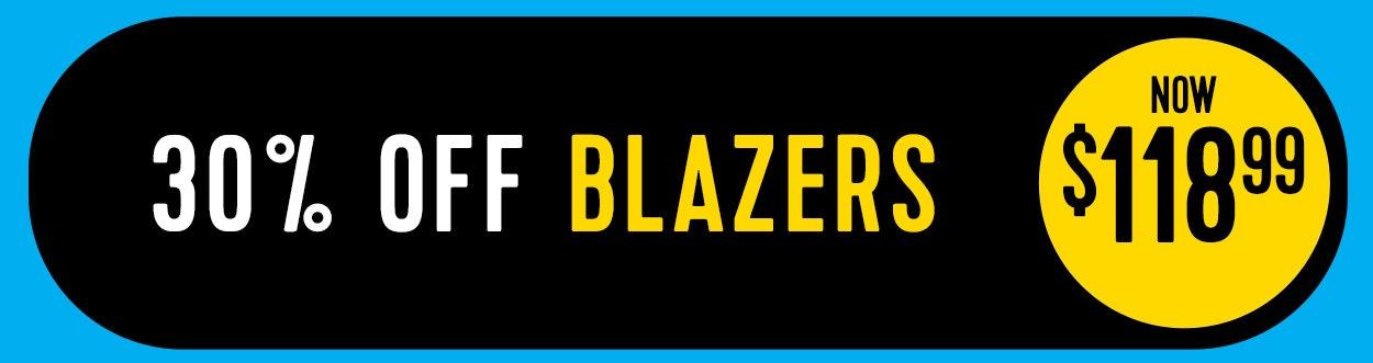 30% off blazers