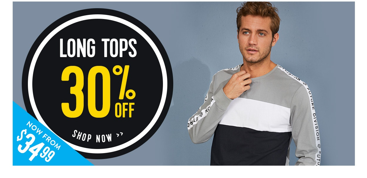 30% off Long sleeve tops