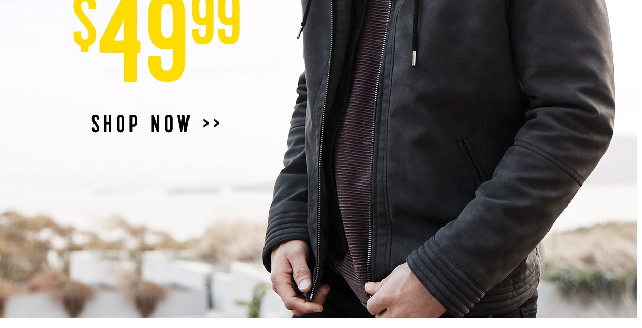 Sale jackets now from $49.99