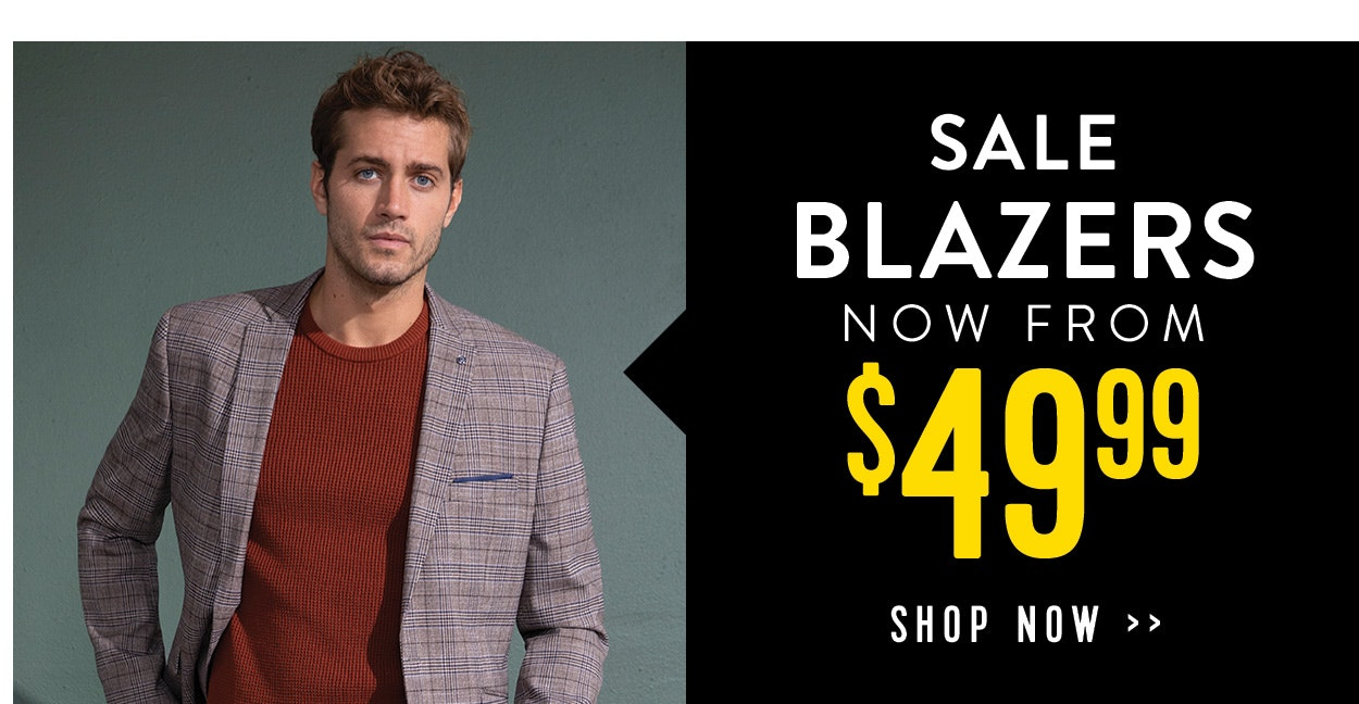 Sale blazers now from $49.99