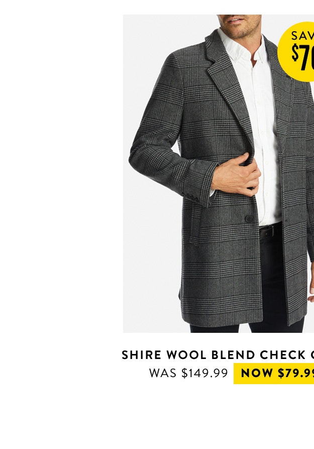 Shop the Shire Wool Blend Check Coat