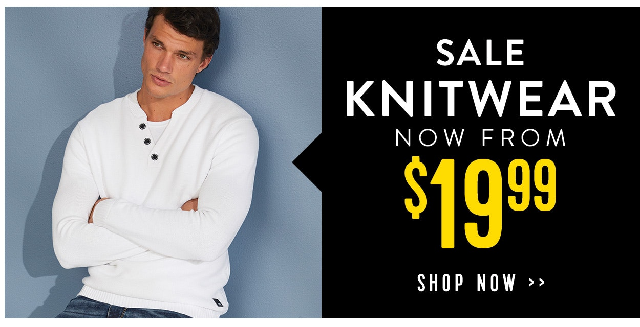 Sale Knitwear now from $19.99