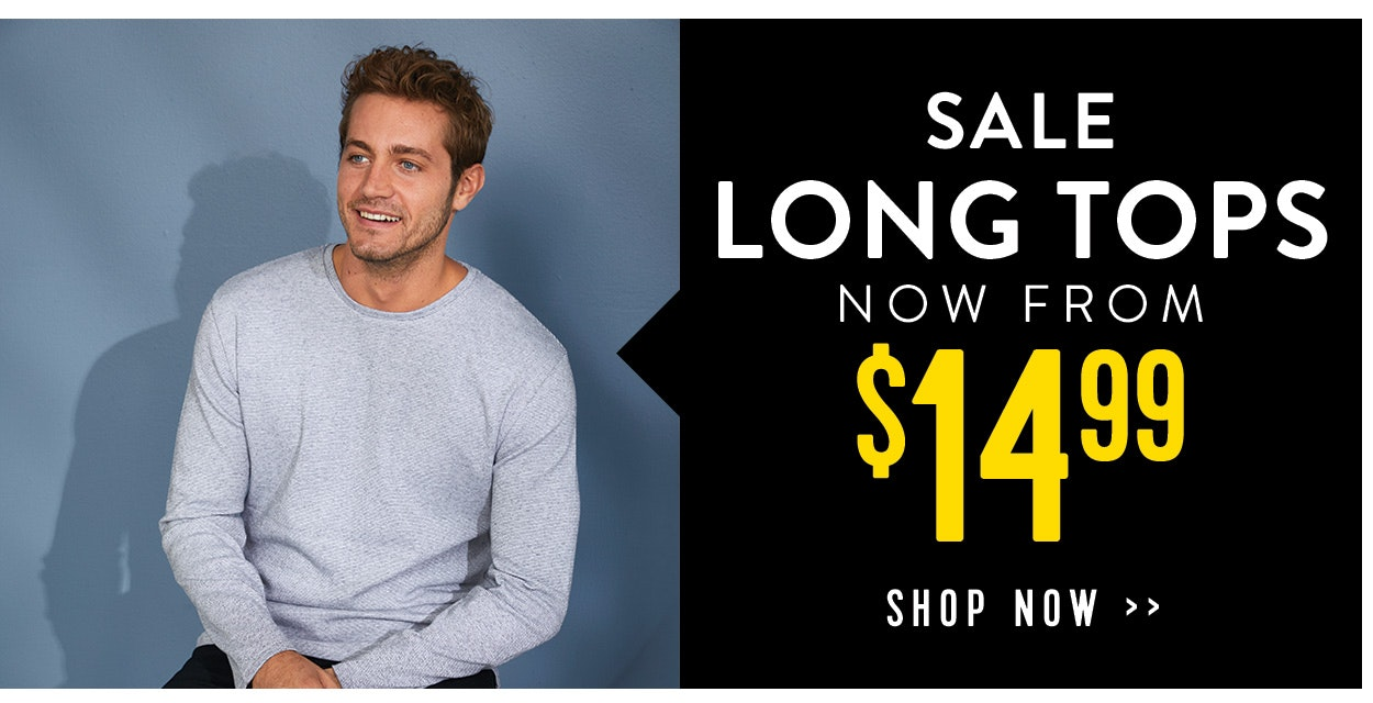 Sale long tops now from $14.99