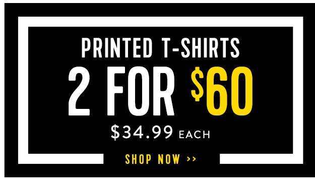 Printed tees 2 for $60