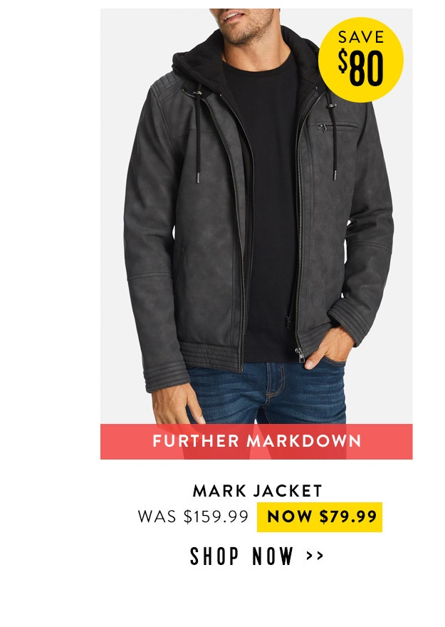 Shop the mark jacket now $99.99
