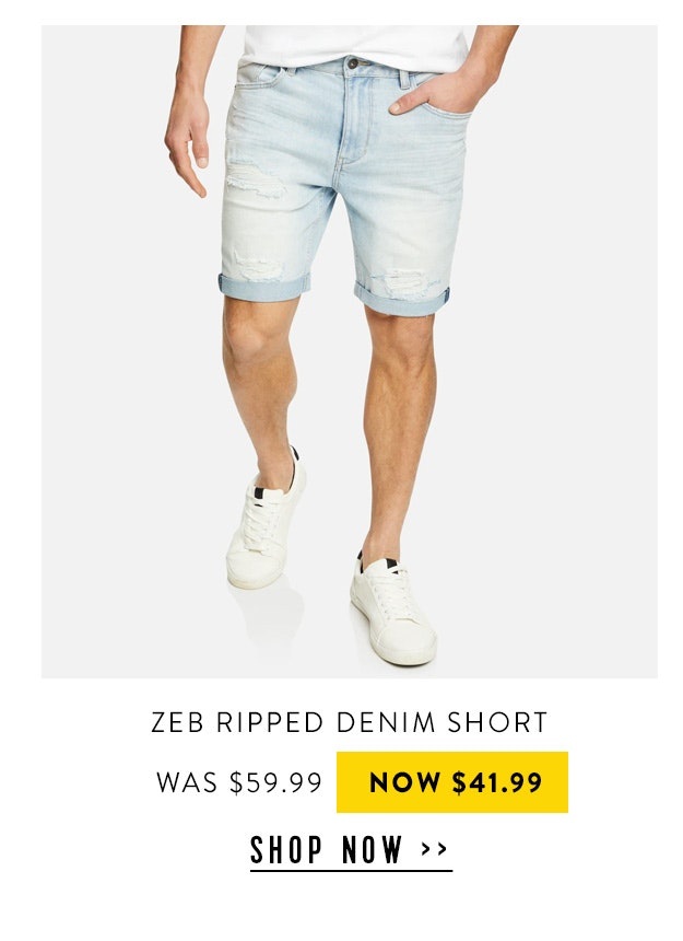 Zeb Ripped Denim Short