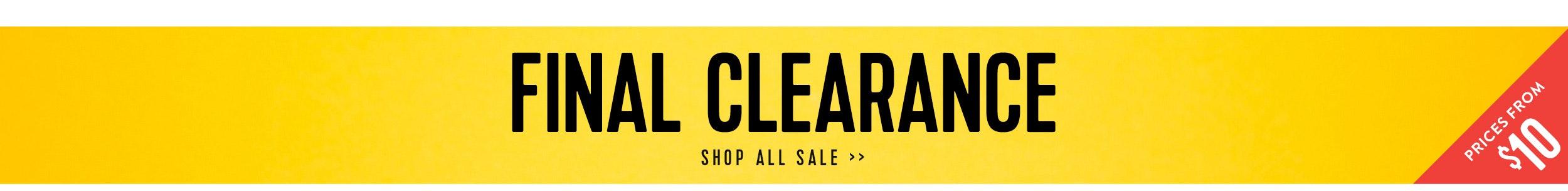 Final Clearance Sale