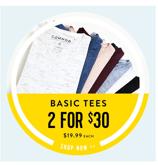 Basic Tees 2 for $30