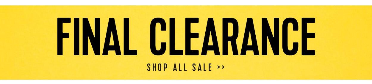 Sale Final Clearance