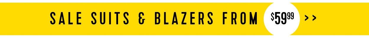 Sale suits & blazers