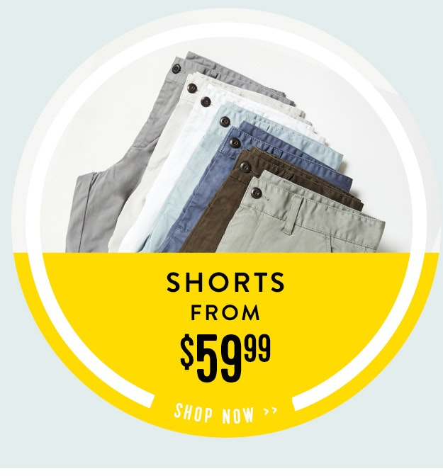 shorts from $59.99