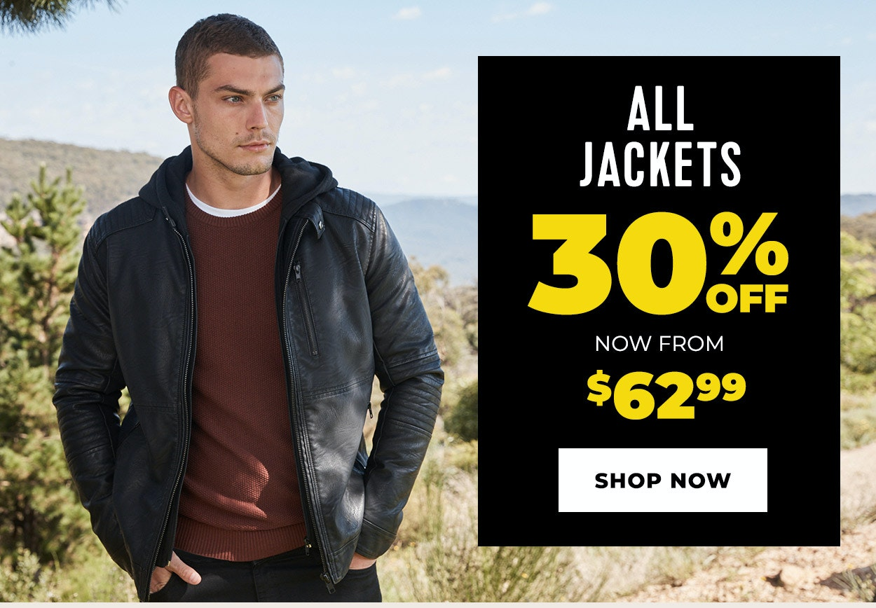 jackets 30% off