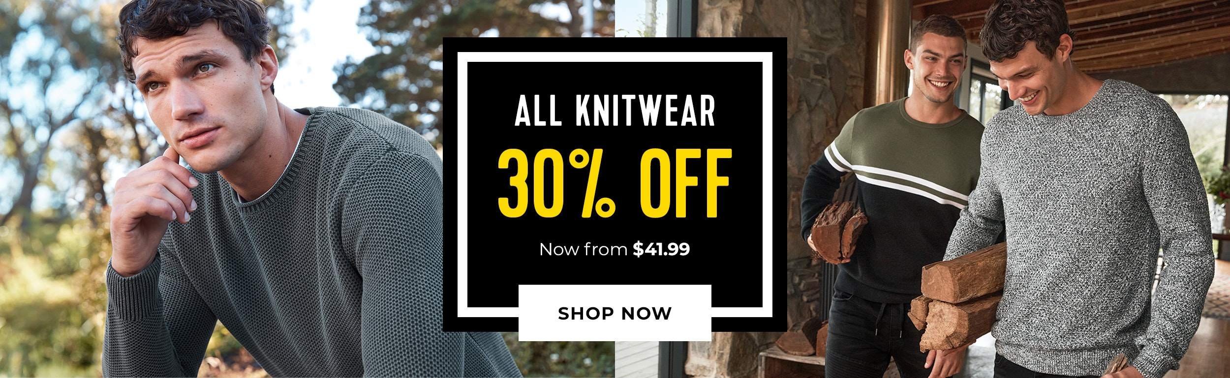 knitwear 30% off
