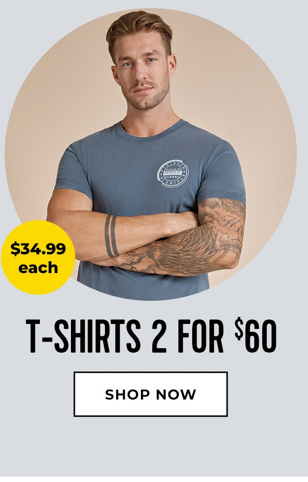 Tshirts 2 for $60