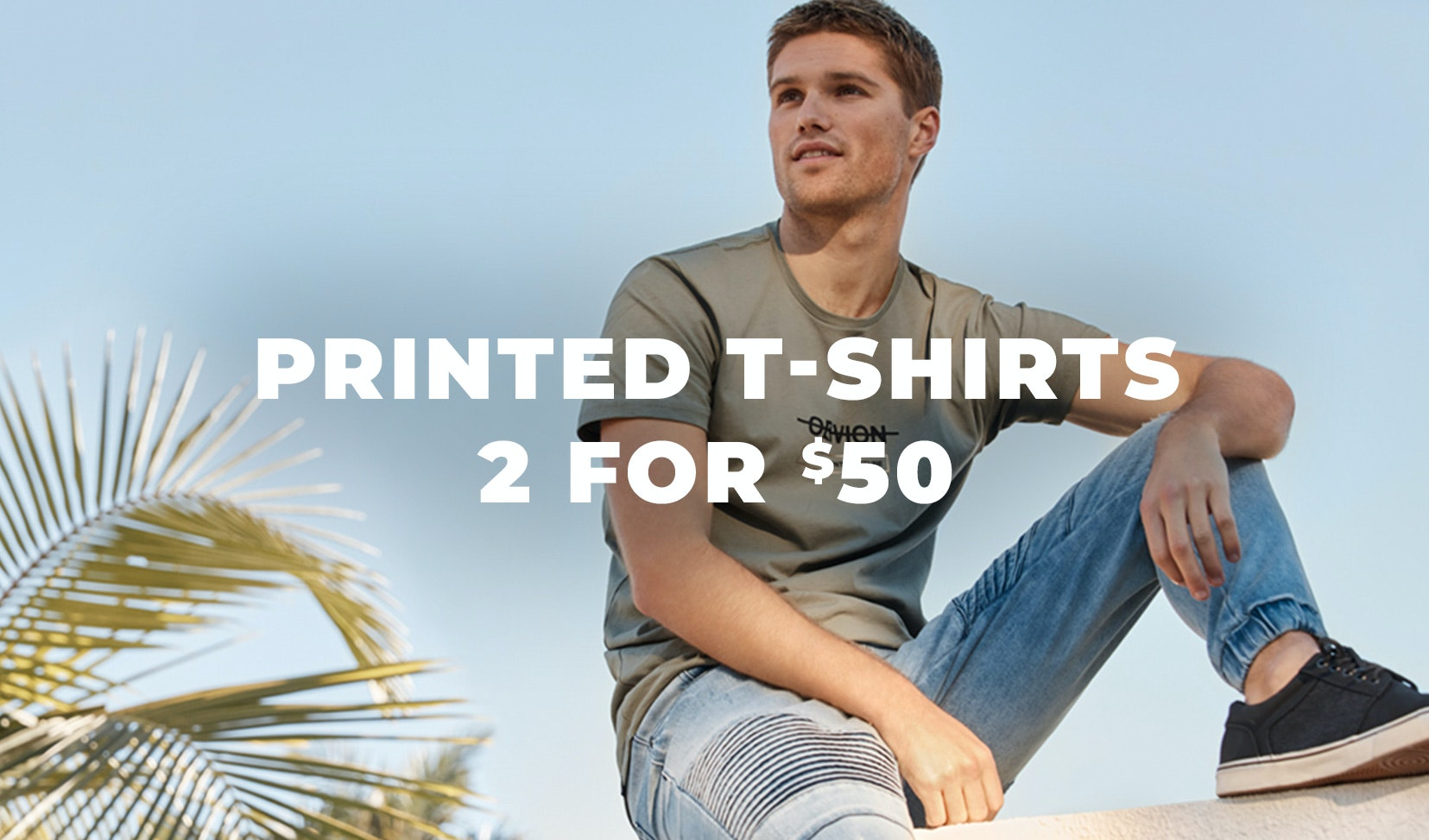 2 for 50 printed t-shirts
