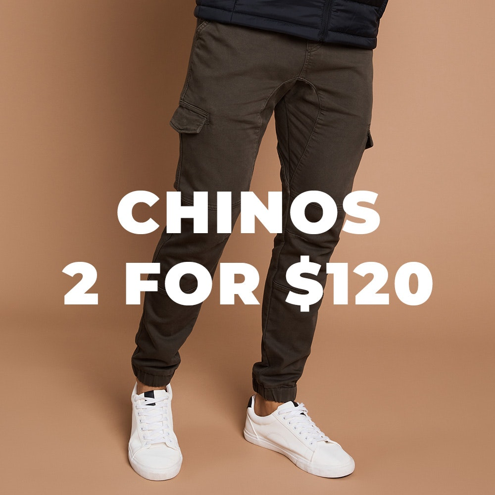 2 for 120 chinos