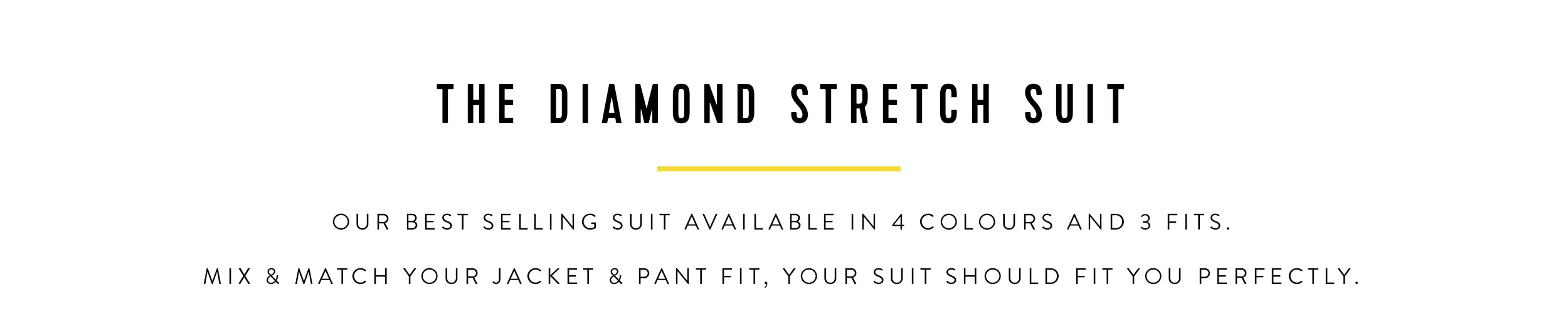 Shop The Diamond Suit | Available in 4 colours