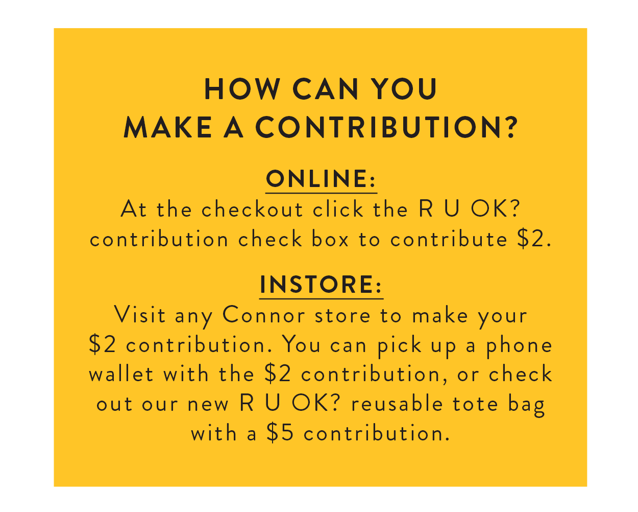 How can you make a contribution?