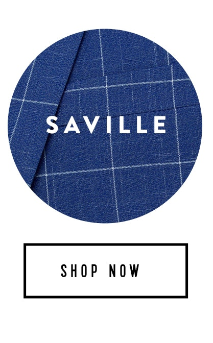 Shop Blue Saville Check Suit
