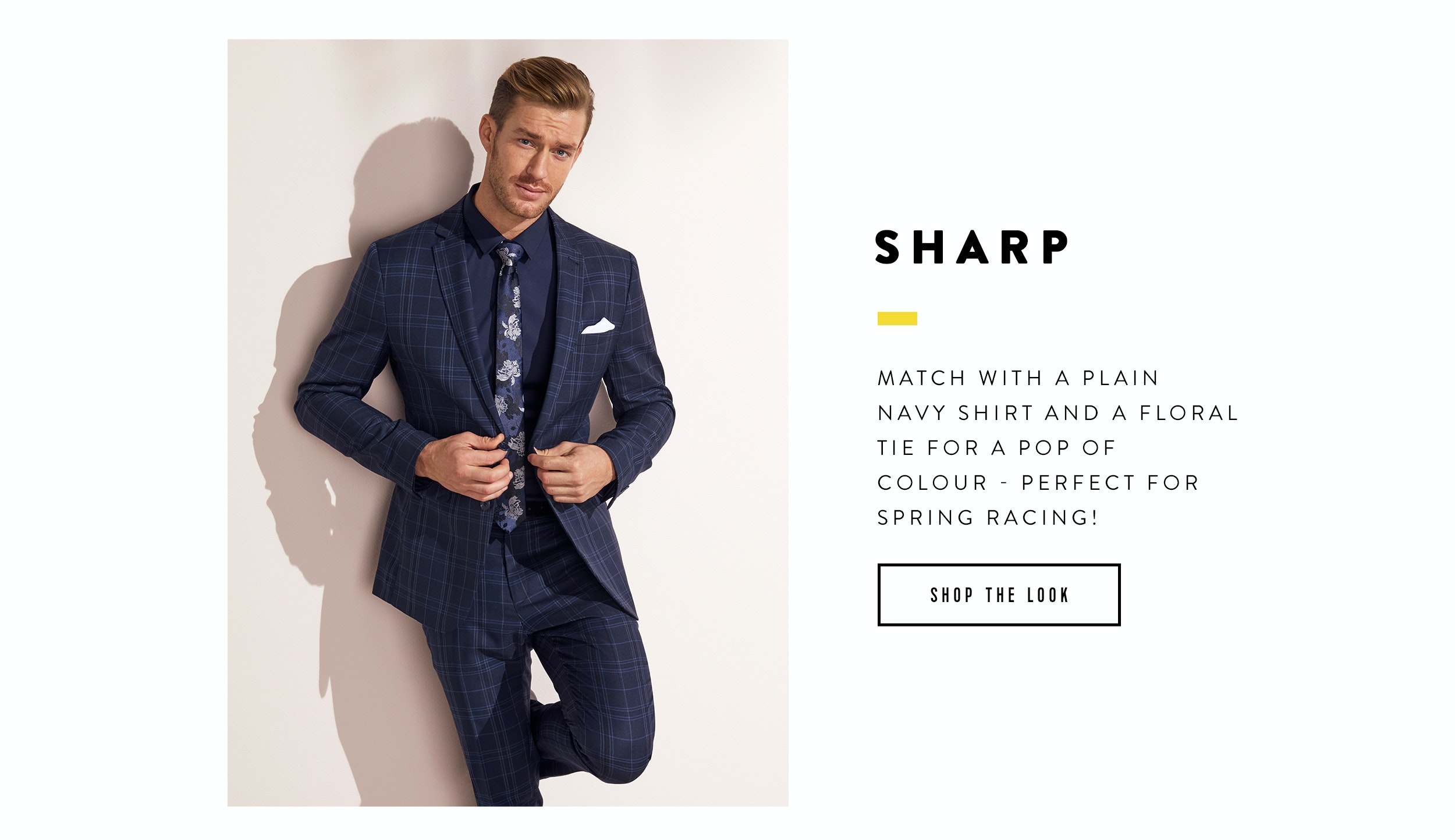 Ways to wear the check suit