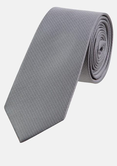 Pewter Plain 6cm Tie